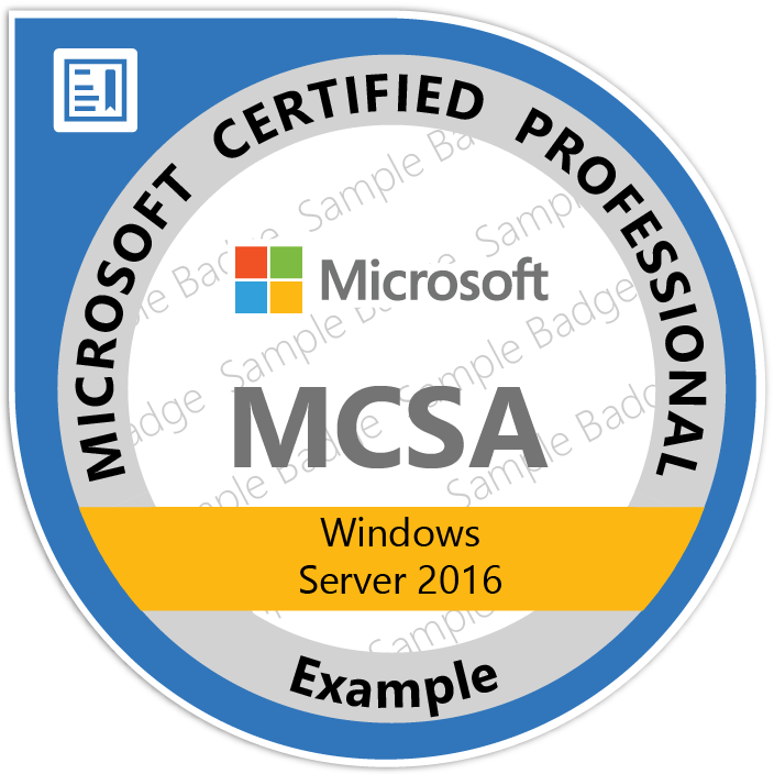 Formation MCSA Windows Server 2016