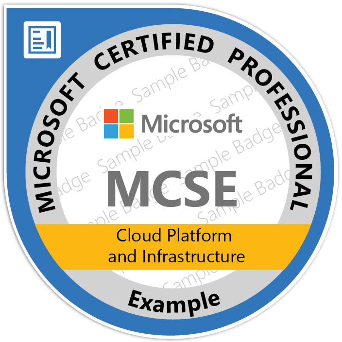 Formation MCSE Cloud Platform and Infrastructure